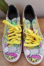 Rétro Vintage PUMA panier 68 Pop art comic Formateurs 9.5