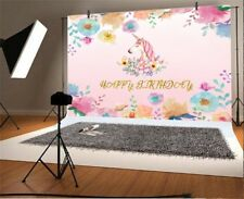 Flower Painting Unicorn Birthday Photo Backgrounds 6x4ft Photography Backdrops
