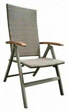 Gartenstuhl Aluminium Polyrattan Garten Hochlehner Klappstuhl Stühle Beige 15Neu