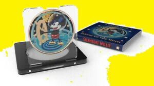 Niue 2017 $2 Steamboat Willie - Flying to the Moon 1 Oz Silver Coin