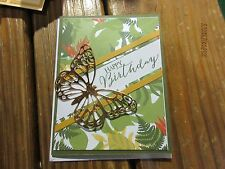 Stampin Up Birthday card handmade - Happy Birthday tropical butterfly