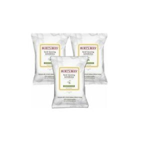 BURT'S BEES - Facial Cleansing Towelettes with Cotton Extract 10 count pack of 3