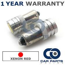 2x XENON rosso BA9S T4W 233 LUCI DI POSIZIONE upgrade LED SMD LAMPADINE