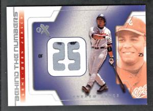 2002 Fleer EX E-X Behind The Numbers Jersey Andruw Jones Atlanta Braves