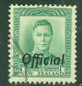 New Zealand. 1942. GVI. 1d. Green. Official.  BOB. U.