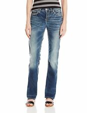 f80b34fd Silver Jeans Women's Sz 27X33 Suki High Slim Bootcut Indigo Jean 6371-2
