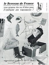 PUBLICITE ADVERTISING 045  1963  LE BERCEAU DE FRANCE bébé vacances couffin lits