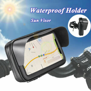 Waterproof Motorcycle Bicycle Holder Case Bag Handlebar Mount For Cell Phone GPS