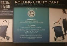 Casual Living Rolling Utility Cart In Navy