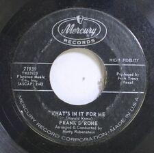 50'S & 60'S 45 Frank D'Rone - What'S In It For Me / Twist L'Il Liza On Mercury R
