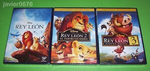 EL REY LEON TRILOGIA COLECCION 3 DVD NUEVOS Y PRECINTADOS DISNEY
