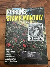 gibbons stamp monthly . nov 1978 . monaco early stamps