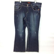 a3dab0d55f4 Bongo Size 22 Denim Blue Jean Stretch Pants Dark Wash 7 Pocket Distressed