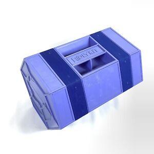 Vintage Rolykit Portable Tool Box Organizer Hard Plastic Rare Blue Color