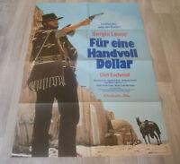 A1 Filmplakat - FÜR EINE HANDVOLL DOLLAR , CLINT EASTWOOD, S  LEONE, K KINSKI -2