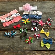New listing Lot 23 Baby Headbands Bows Clips