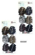 2 Pack of Scunci 6 Piece Multi Colors Small Jaw Hair Clips