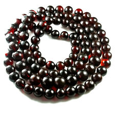 65.7g 100% Natural Mexican Blood Red Amber Bead Bracelet Necklace CSFb695