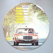 ✇ DAIMLER BENZ 1977 Modelle 123 123 116 mit Preis und Daten in runder Drehkarte
