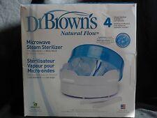 DR. BROWNS MICROWAVE STEAM STERILIZER 4 BOTTLES NATURAL FLOW