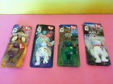Set of 4 McDonald's ty Mini Beanie Baby Complete New & Sealed in Bags Lot m4