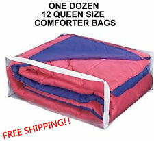 1 Dozen Queen Size Comforter Storage Bags Package of 12 Blanket (Queen) Bag