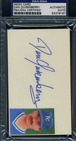 Dan Quisenberry Signed Psa/dna 3x5 Index Card Certed Autograph
