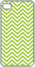 Chevron Green Designed iPhone 4 4s Hard White Case Cover