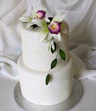 ZUCCHERO alla Vaniglia Orchidea Fiore, medio, cake topper, gomma pasta di zucchero, Matrimonio