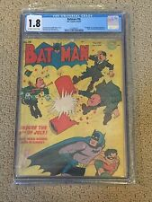 Batman 18 CGC 1.8 OW/White Pages (Classic Hitler Cover!!)