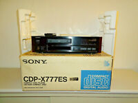 Sony CDP-X777ES High-End CD-Player Schwarz in OVP, FB&BDA, 2 Jahre Garantie