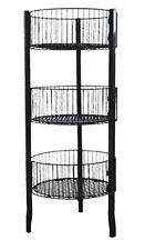 """Impulse Dump Bin Sale Basket 3-Tier 18.5"""" Diameter Wire Floor Display Black NEW"""