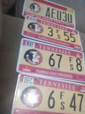 4 Lot of Florida State University License Plates (Worn)
