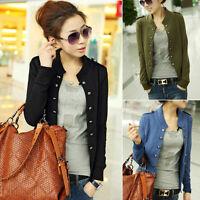 Korean Women's Slim Fit Casual Double Breasted Jacket Coat Tops OL Blazer Suit