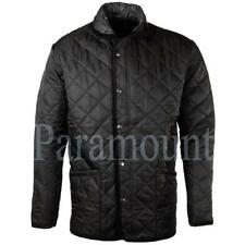 Zip Collared Polyester Coats & Jackets for Men Quilted