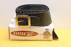 Hunter Buscadero Black Leather .45 Cal #255 Double Holster Belt Sz Small 28-33""