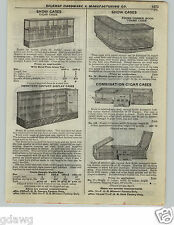 1922 PAPER AD Store Retail Display Case Cigar Cane Glass Wooden Pharmacy