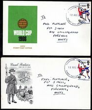 (J-600) GB 1966 World Cup Winners FDC x 2 - different caches