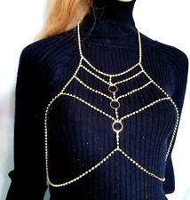 Rhinestone Body Chain Crystal Bra Beach Jewelry