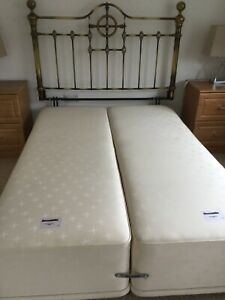 Double Divan Bed Base and Headboard .ExcellentCondition.Buyer must Collect