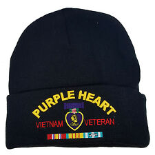 PURPLE HEART VIETNAM VETERAN CUFFED BEANIE KNIT SKULL CAP