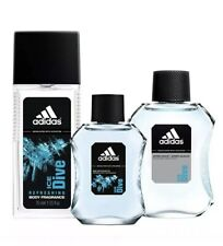 Adidas Men's Cologne Ice Dive Body Fragrance, After-Shave, EDT Set, 3-Pc