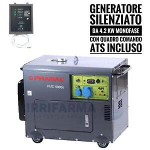 Generatore di corrente silenziato Monofase 4.2 KW pramac PMD 5000S ATS elettrico