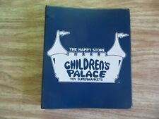 "Vintage 1970's Children's Palace Toy Store notebook binder ""The Happy Store"""