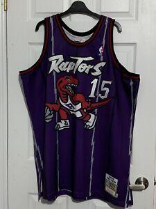 BNWT Mitchell & Ness Toronto Raptors Vince Carter AUTHENTIC HWC Jersey! 56 XXXL!