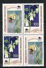 Bosnia & Herzegovina (Muslim Adm) Sc 223 NH ISSUE of 1995 - Flowers Block of 4
