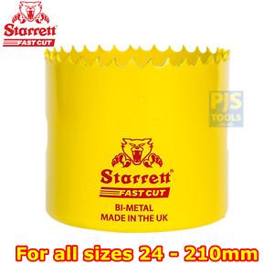 Starrett fast cut bi-metal holesaw 24mm-210mm hole saw or arbors or pilot drills