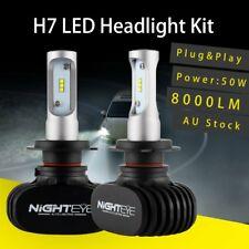 Nighteye H7 50W 8000Lm LED Car Headlight Conversion Globes Bulbs 6500K White Kit