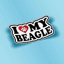 I Love My Beagle Cie Cut Vinyl Decal Sticker Car Truck