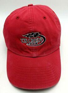 2008 U.S. TENNIS OPEN hat red adjustable cap - 100% cotton
